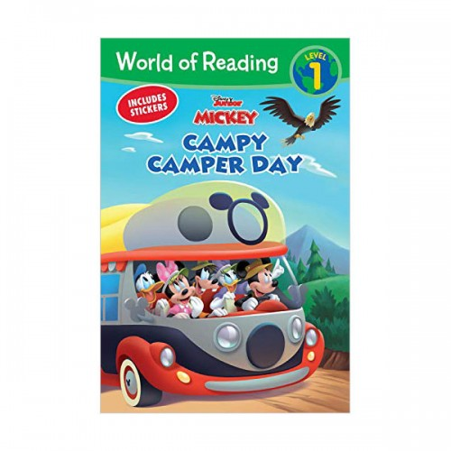 World of Reading Level 1 : Mickey Mouse Mixed-Up Adventures Campy Camper Day (Paperback)
